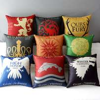 Game of Thrones Inspired Cotton Linen Sofa Decorative Throw Pillow