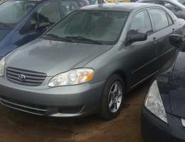 Clean 2002 tokunbo toyota corolla