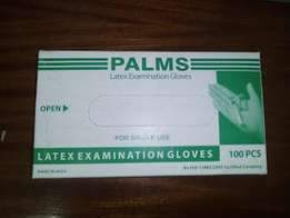 Latex Examination Gloves 100's