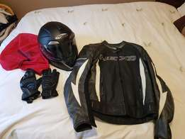 Lady motorcycle gear