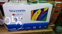 """skyworth 24 """" Digital tv -1 year warranty card-delivery country wide ."""