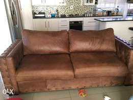 Beautiful genuine leather couches