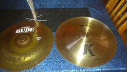 High end Zildjian and Paiste cymbals