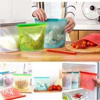 Silicon bags for storing stuff in the fridge