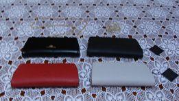 85620707748f8 kopertówka torebka Wittchen czarna czerwona gołębia skóra saffiano