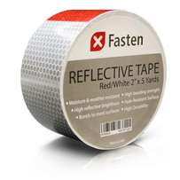 Safety Reflective Tape - Red & White - 2 Inches by 5 Yards