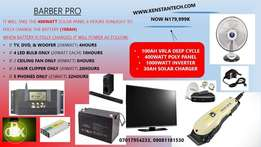 16hours a day Full Solar Power Solution for Barbing Salon