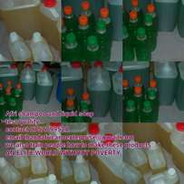 Liquid soap and shampoo on sell