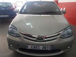2012 Toyota Etios 1.5, with 60000Km in Excellent Condition