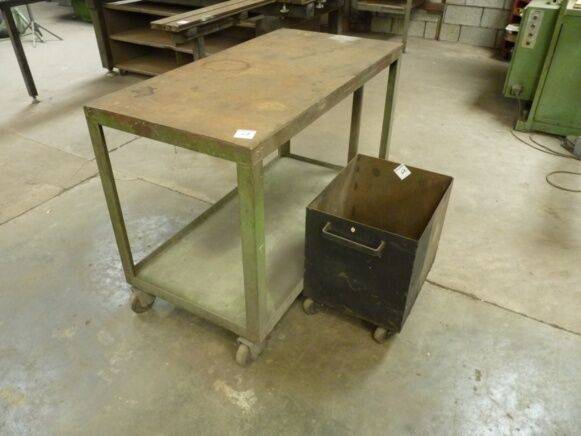 Sale trolley metal on wheels waste container for  by auction