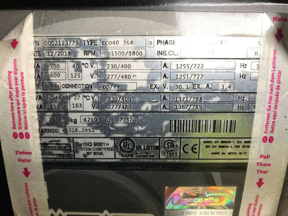 Doosan DP158LC - 510 kVA Generator - DPX-15555 - 2019 - image 14