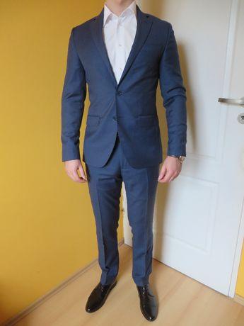 9cbd6999b8b996 Garnitur Lancerto szafirowy męski slim 2-częściowy marynarka + spodnie  Golęczewo - image 1
