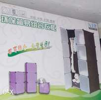 plastic wardrobe with hanger section