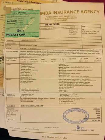 Toyota vitz with insurance untill 2017Feb Kenyatta - image 3