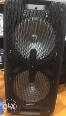 Speaker 2x10 high sound with echo and wireless microphone