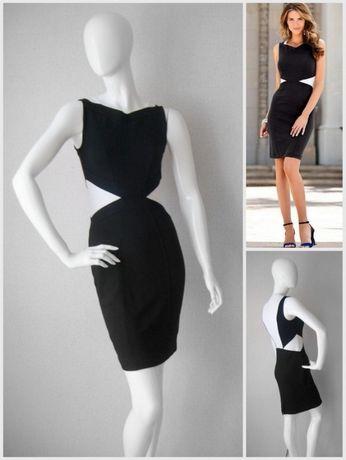 23590bce1a Czarna biała sukienka 36 wyszczuplająca chanelka czarno biała Warszawa -  image 2