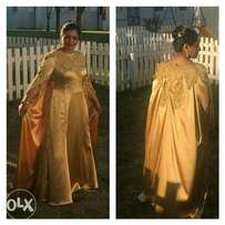 Evening gold dress for sale