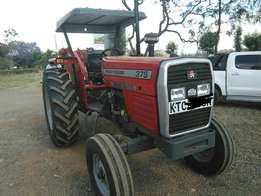 MF 375 2WD with 1 year warranty,weights and free plough.