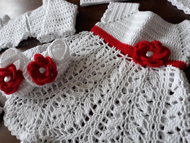 d9e722680e Chrzest szydełkowy komplet do chrztu sukienka dla dziewczynki  Jastrzębie-Zdrój - image