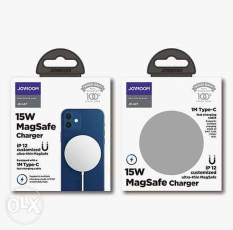Mag safe charger Joyroom شاحن لاسلكي اصلي ماركه جيروم