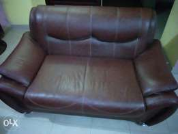 Complete leather chair set ( fairly used)