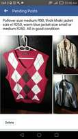 Men's clothing good condition