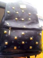 Melan Bag- Black and Gold Stones