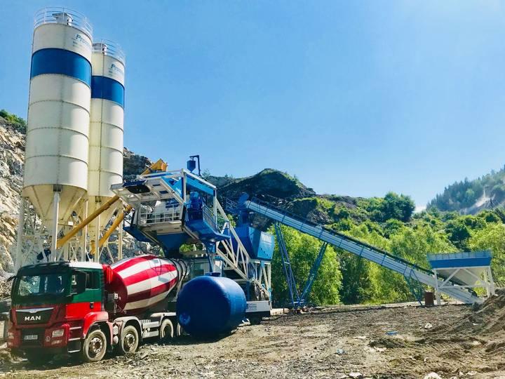 Promax-Star Mobile Concrete Batching Plant M100-SNG   100 m3/h