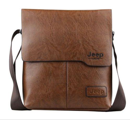 JEEP мужская кожаная сумка через на плечо. Чоловіча сумка Polo Поло Львів -  зображення 2 4dd767e9d2fa9