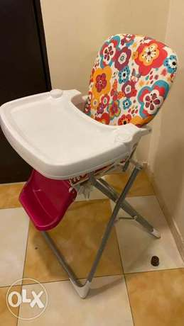 Multicolor babies foldable high chair
