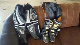 Kids Mx boots & pants