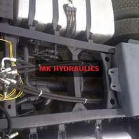 Exclusive fitting hydraulic system on trucks