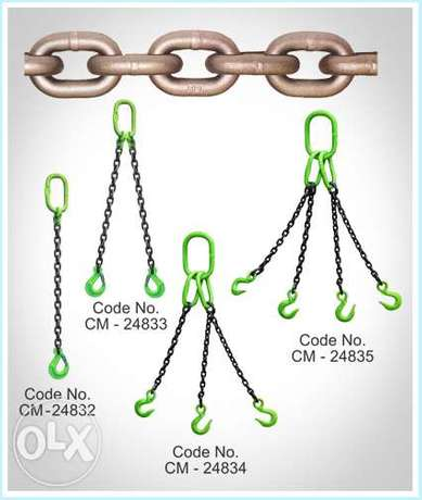 Lifting Sling, Chain and Wire Rope, Certified Material