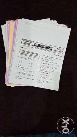 Maths Daily preparation papers for IIT entrance exam
