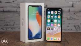 New Offer Apple iPhone X with FaceTime - 256GB, 4G LTE ,silver, Gray