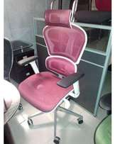 Block Executive Swivel Fabric Faced Seat Pink Office Chair