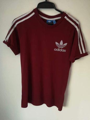 Adidas bordowa bluzka męska originals oldschool teez bluzka