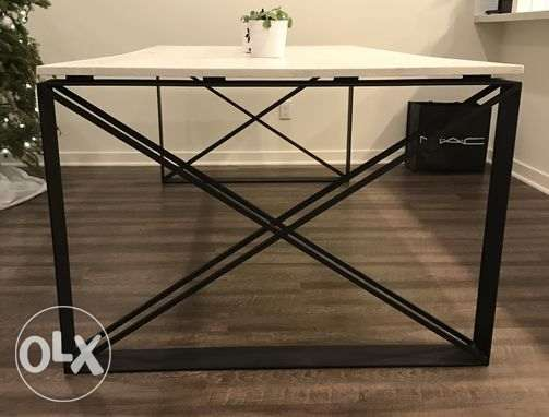 [ Contemporary industrial steel redundant dos XX Dining Table ]