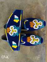 Beading shoes and cap