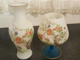 Golden oldies glass vase set