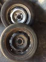 two rims ford mazda or nissan 114 pcd neefs tires14s