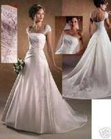 WDS06 Cap sleeve Wedding Dress
