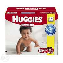 Huggies Snug And Dry Size 3 240 Count