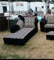 Black and white sofa bed