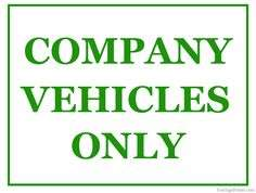 Company vehicles wanted