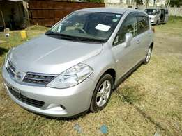 Silver Tiida Hatchback With alloy wheels