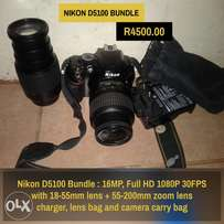 Nikon D5100 with 2 lenses