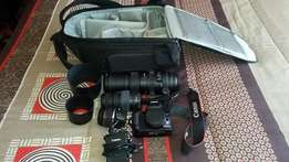Canon EOS 1000D Camera and 3 Lenses
