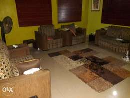 Used settee furniture for sale plus centre rug