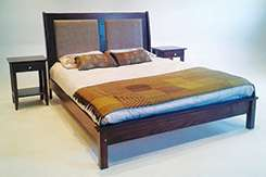 Queen Paris bed in fabric now available at Woodnbeds,visit online stor
